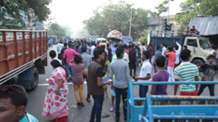 People enjoying in festival Stock Footage