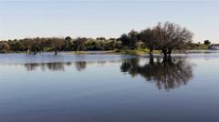 Alqueva - Lake landscape A Stock Footage