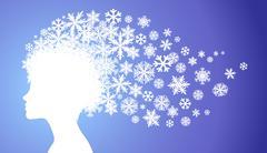 Lady winter - stock illustration