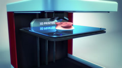 3d printer printing ear transplant - stock footage
