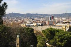 view over barcelona. catalonia. spain - stock photo