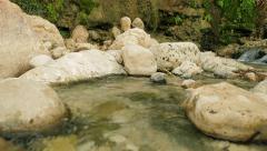 Stream- Water between the rocks Stock Footage