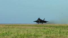 F-22 Raptor takes off, The Hawaii Air National Guards Sentry Aloha Team Stock Footage