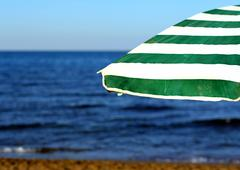 Stock Photo of umbrella at the beach without anyone