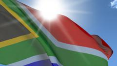 Flag Of SouthAfrica Stock Footage