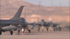Fighter Jets at Red Flag Stock Footage