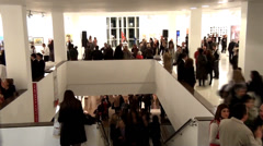 Timelapse People at the art gallery - stock footage