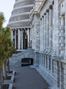 wellington parliament buildings nz - stock photo