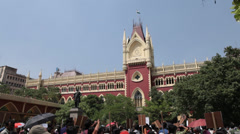 High court building in Kolkata India Stock Footage