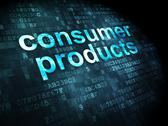 Stock Illustration of Finance concept: Consumer Products on digital background