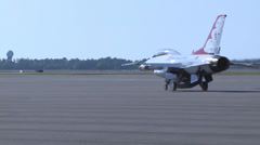 Vincent Jackson Flies with Thunderbirds Stock Footage