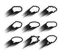 Collection of comic style speech bubble Stock Illustration