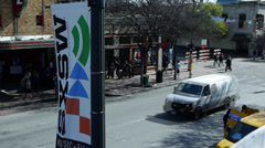 Timelapse of  6th street Austin, Texas in the morning setup during SXSW - stock footage