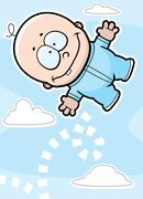 bouncing baby - stock illustration