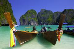 hat noppharat thara mu ko phi phi national park. krabi thailand. - stock photo
