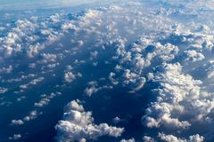 Clouds aerial view Stock Photos