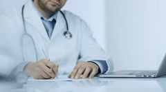 Handshake during Medical Consultation - stock footage