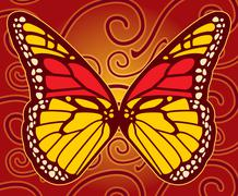 Monarch butterfly Stock Illustration