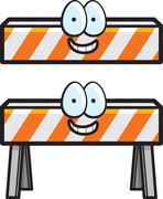 Construction barricade Stock Illustration
