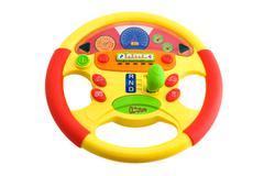 toy steering wheel - stock photo