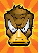 angry platypus - stock illustration