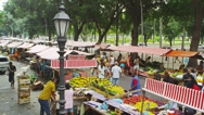 Stock Video Footage of RIO DE JANEIRO, BRAZIL - JUNE 23: Slow motion of buyers at market on June 23,