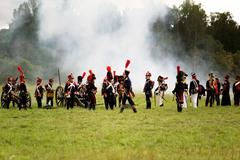 battle russian and french armies in 1812 - stock photo