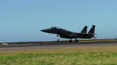F-15 Eagle takes off, The Hawaii Air National Guards Sentry Aloha Team - stock footage
