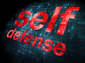 Stock Illustration of Privacy concept: Self Defense on digital background