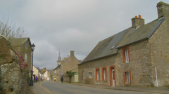 Flers (Normandy) street - zoom Stock Footage