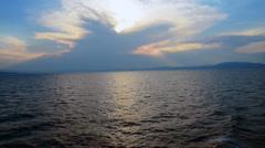 Evening Island crossing in Greece Stock Footage
