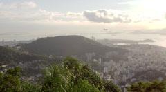 Plane over Rio de Janeiro, Brazil. Stock Footage