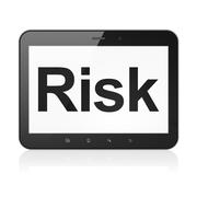Stock Illustration of Business concept: Risk on tablet pc computer