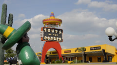 South Carolina border Famous Tourist attraction called South of the Border in Stock Footage