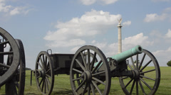Antietam National Battlefield Famous Civil War Battleground Memorial in Antietam - stock footage