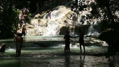 Dunn's River Falls Jamaica 1 Stock Footage