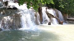 Dunn's River Falls Jamaica 3 Stock Footage