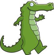 Alligator walking Stock Illustration