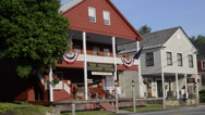 Stock Video Footage of Small village of Weston Vermont with landmark store called Vermont Country Store