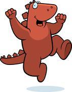 Dinosaur jumping Stock Illustration