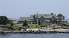 Famous President George H Bush compound in Kennebunkport Maine on Maine coast Stock Footage