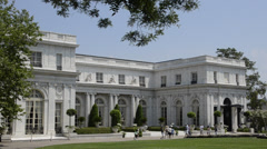 Newport Rhode Island famous Rosemont Mansion on the Mansions Drive Stock Footage