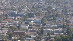 Timelapse neighbourhood district suburb residential house aerial view panoramic  Stock Footage