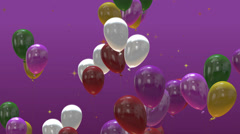 Colored birthday party balloons Stock Footage