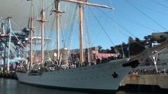 1337 La Esmeralda sailing ship Stock Footage
