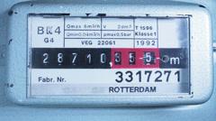 Gas Meter Running to stop Stock Footage
