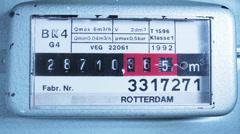 Gas Meter Running Stock Footage
