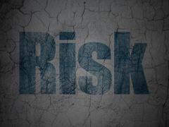 Stock Illustration of Finance concept: Risk on grunge wall background