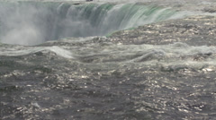 At the edge of Horseshoe Fall Stock Footage