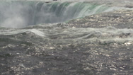 Stock Video Footage of At the edge of Horseshoe Fall